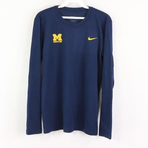 NikeMens Small University Michigan Wrestling Shirt
